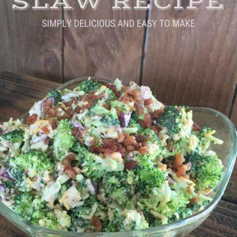 Easy Broccoli Slaw Salad Recipe with Bacon Jam