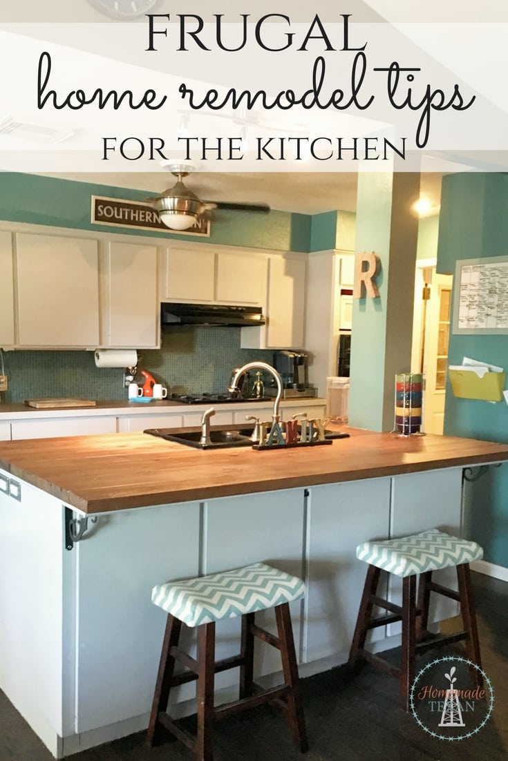 Frugal home remodel tips like these for kitchens are perfect for making your home look amazing on a budget. A few simple fixes can save tons of money easy!