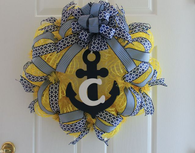 I'll be your anchor...wreath that is! Check out how you can make this nautical mesh wreath today!