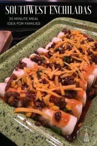 Southwest Beef Enchiladas