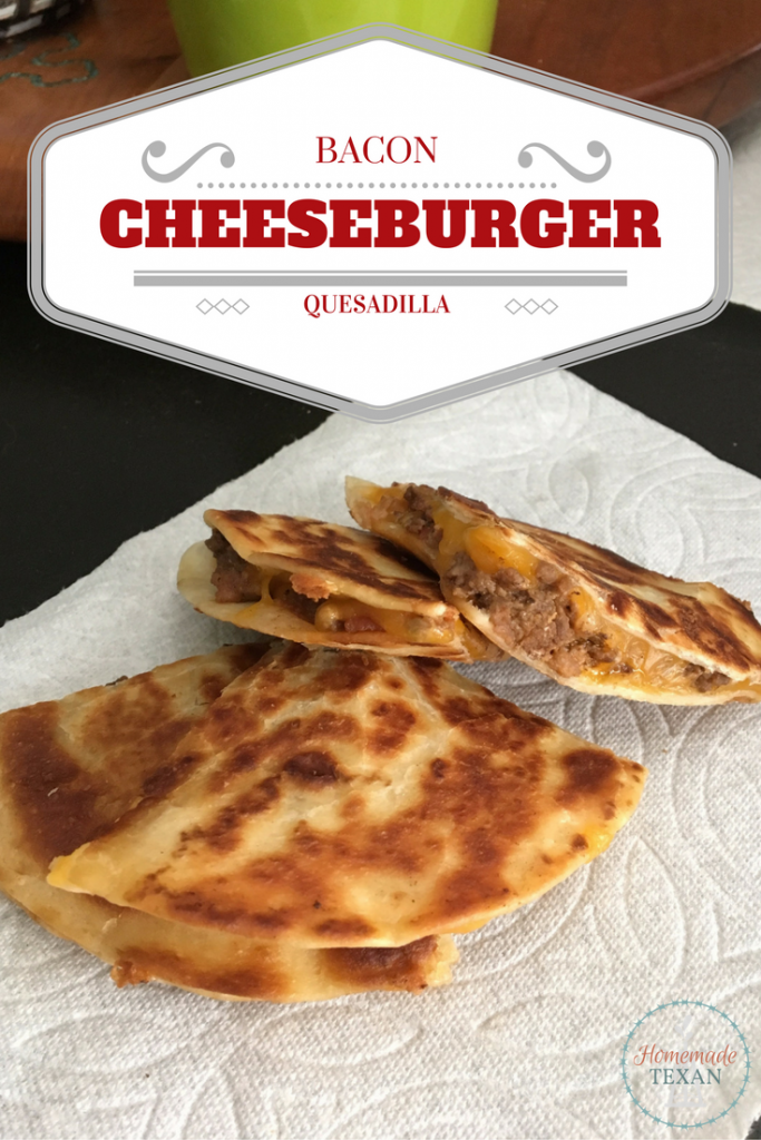 Bacon Cheeseburger Quesadillas Recipe